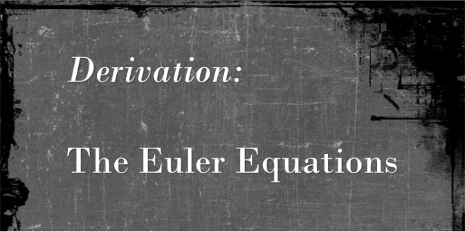 Derivation of the Euler Equations