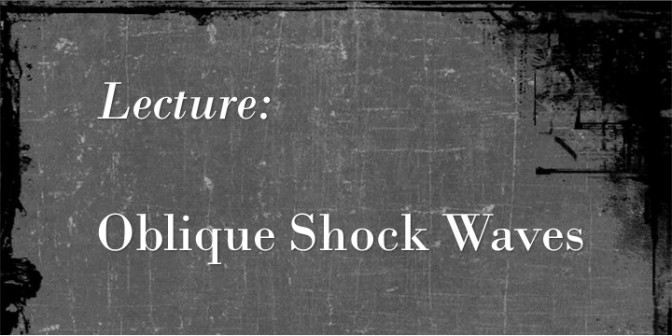 Oblique Shockwaves